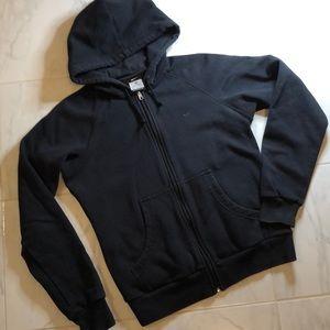 Nike black zip up classic sweatshirt hoodie.  EUC!